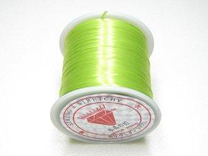 画像1: 水晶の線 ・オペロンゴム 1巻(約70m) 薄緑