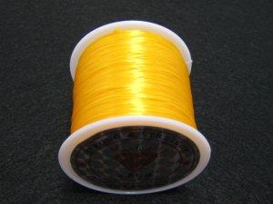画像2: 水晶の線 ・オペロンゴム 切り売り(1m〜) 薄黄色