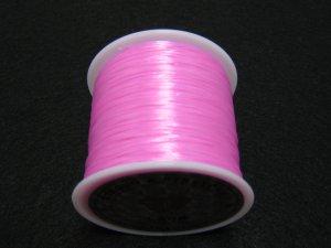 画像2: 水晶の線 ・オペロンゴム 1巻(約70m) 薄ピンク