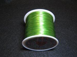 画像2: 水晶の線 ・オペロンゴム 切り売り(1m〜) 緑