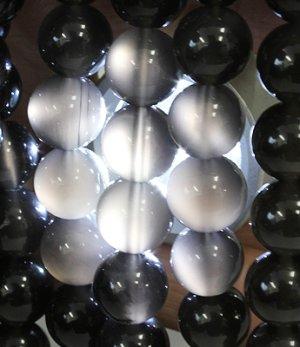 画像5: アイスオブシディアン 8mm ラウンドビーズ